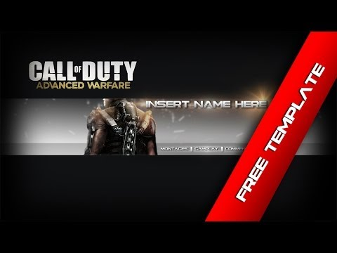 Free Call of Duty: Advanced Warfare Channel Art Template | Speed Art | Brandon King Designs