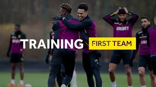 Behind the scenes: Pre Middlesbrough training