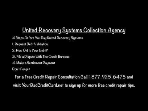united recovery systems collection agency youtube