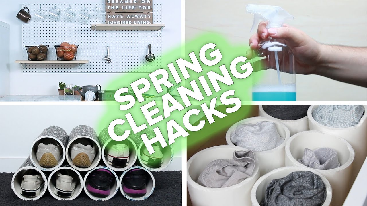 spring cleaning hacks youtube