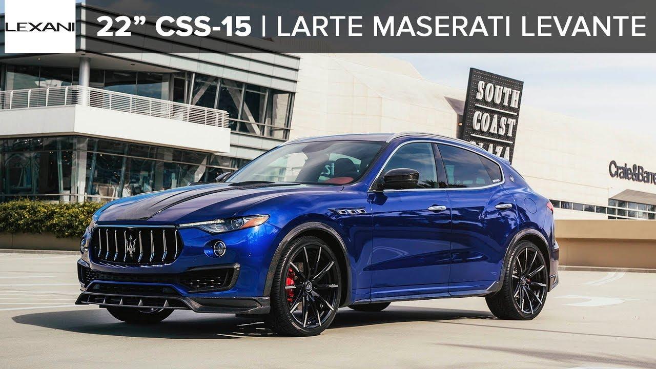 Custom Maserati Levante on Lexani Wheels // LARTE Design ...
