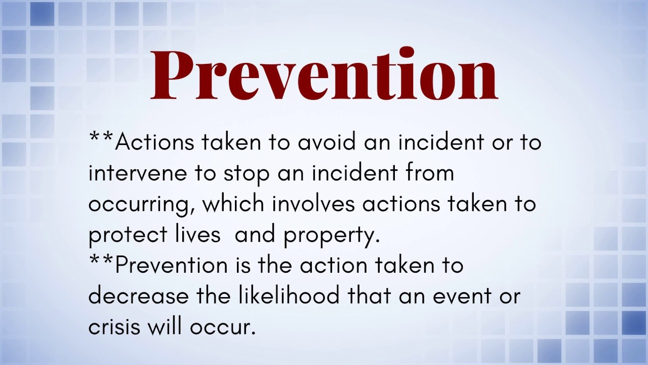 difference between prevention and mitigation