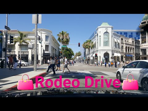 Dash Cam Tours🚘 - LA Driving Tour 2017: Beverly Hills Shoppers on Rodeo Drive