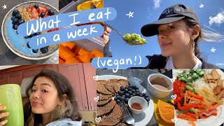 EVERYTHING I eat in a week 🍰 (healthy vegan summer recipes!)
