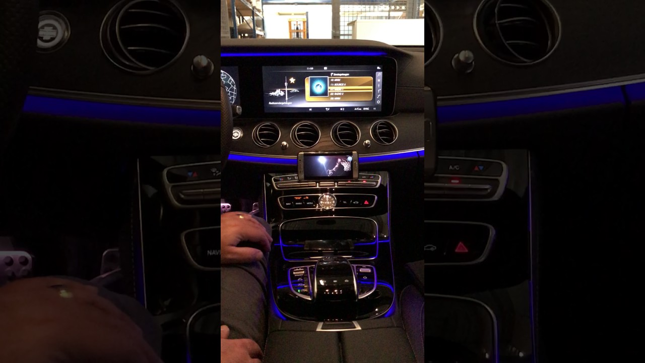 Mercedes E-class W213 with aftermarket Mirrorlink by NavInc