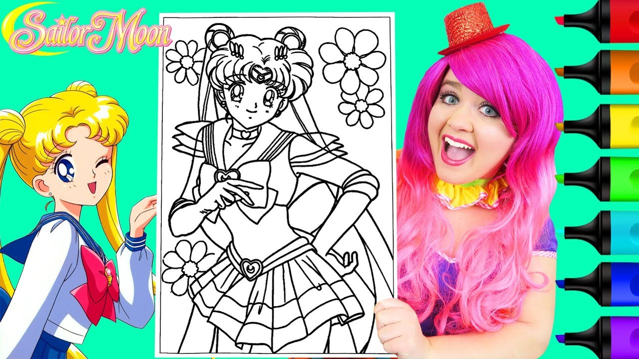 Coloring Super Sailor Moon Coloring Page Prismacolor Markers | KiMMi THE  CLOWN