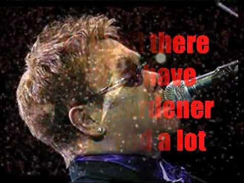 Elton John Empty Garden (Hey,Hey Johnny) with Lyrics by Jr
