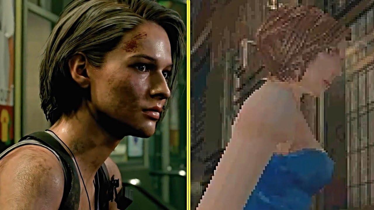 Resident Evil 3 Remake Vs Original Graphics Character Comparison