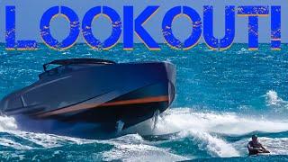 🚤🌴 HAULOVER INLET BOATING WAVES | Boat vs Jet Ski | 4K