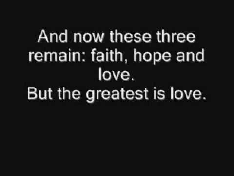 1 Corinthians 13 Song - The LOVE Chapter