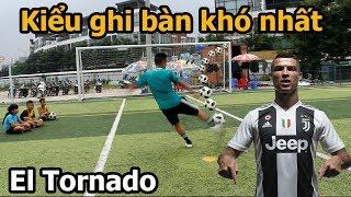 Thử Thách Bóng Đá sút EL TORNADO như Ronaldo cùng thủ môn Bùi Tiến Dũng Nhí  PVF Việt Nam