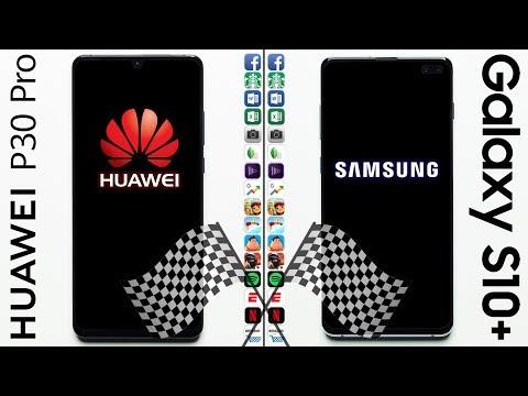 Huawei P30 Pro Vs. Galaxy S10+ Speed Test