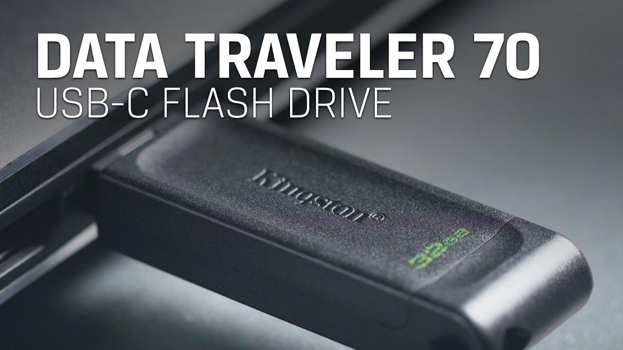USB-C Flash Drive for tablets, phones and laptops – Kingston DataTraveler 70