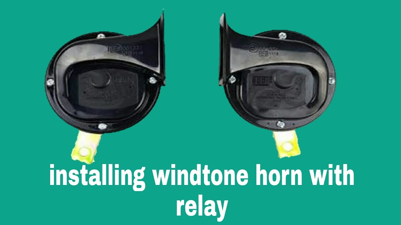 How to install a power horn in any scooty or bike with relay step by ...