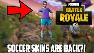 FORTNITE BATTLE ROYALE- Soccer Skins Return! + Gameplay! (SEASON 7)