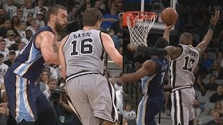 Marc Gasol Blocks Big Brother Pau Gasol! Spurs Dominate Game 1