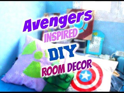 🔵 avengers diy room decor !! 🛑 canvas + pillow + tesseract lamp