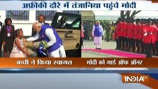 Ceremonial Welcome Given to PM Modi at Tanzania | Modi's Africa Visit 2016