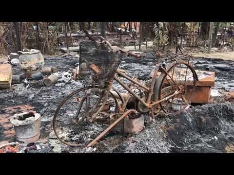 Villages torched in Myanmar