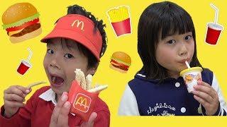 マクドナルド お料理 おもちゃ お店屋さんごっこ ポテトとジュースはいかがですか? こうくんねみちゃん MacDonald Toy thumbnail