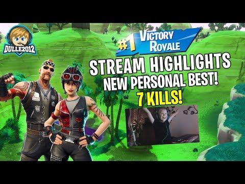 New record!!😃 7 kills + win! (6 year old gamer) Stream Highlights // Fortnite Battle Royale