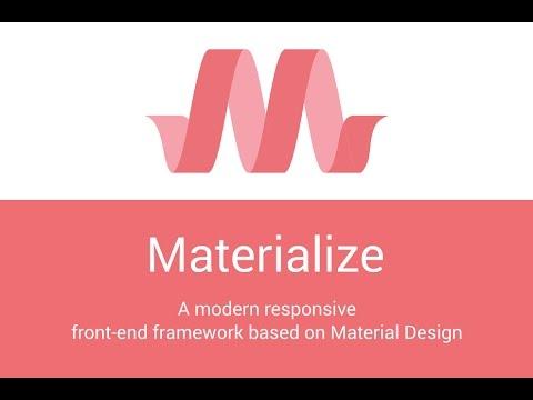 Materialize 09 NavBar/SIDEBAR
