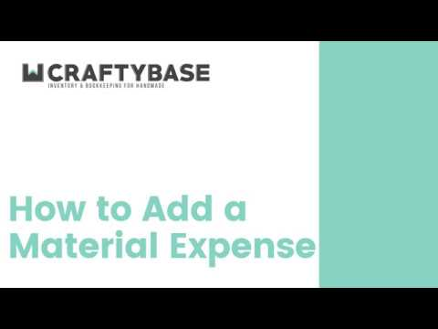 How to add a Material Expense in Craftybase