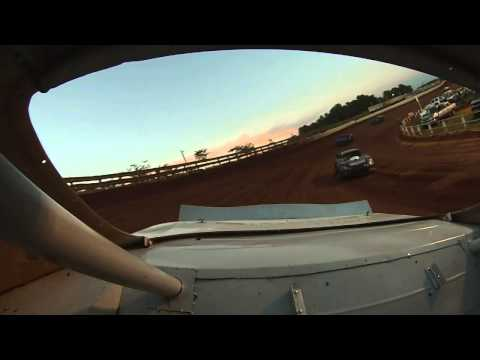 TAZEWELL SPEEDWAY 8 1 2015  JAMIE WHITT HOT LAPS  REAR GOPRO