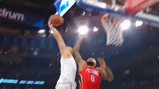 DeMarcus Cousins DUNKED ON By Enes Kanter!Enes Kanter Posterizes DeMarcus Cousins Pelicans vs Knicks