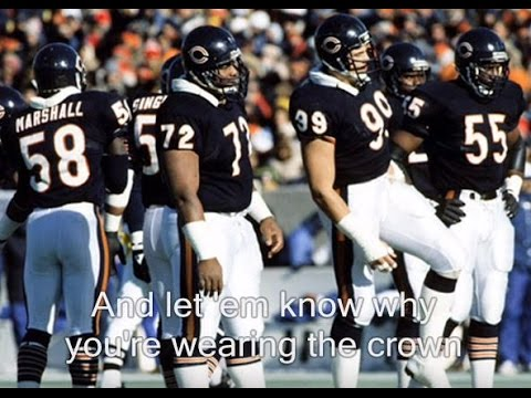 Bear Down Chicago Bears with lyrics