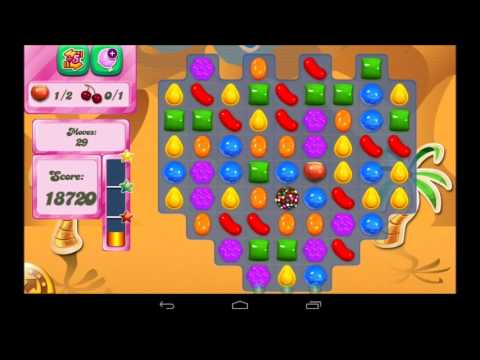 Candy Crush Saga Level 117 Walkthrough Travel Video