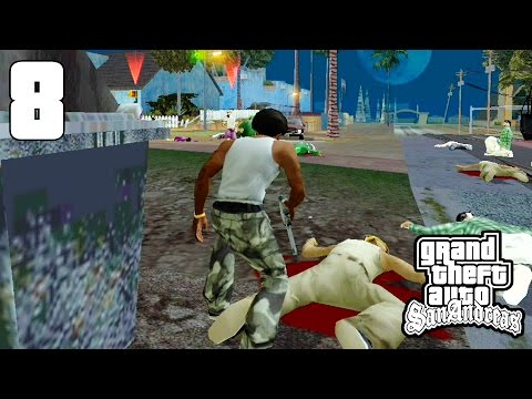 GAMEPLAY GTA : SAN ANDREAS ANDROID ( MISSÃO NO TREM E ROUBAN
