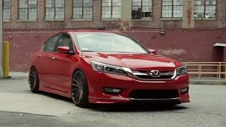 Red Honda Accord on Vossen VFS2 Wheels