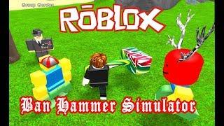 Klozet ile Noob'ları Banladım !! | Ban Hammer Simulator | Roblox