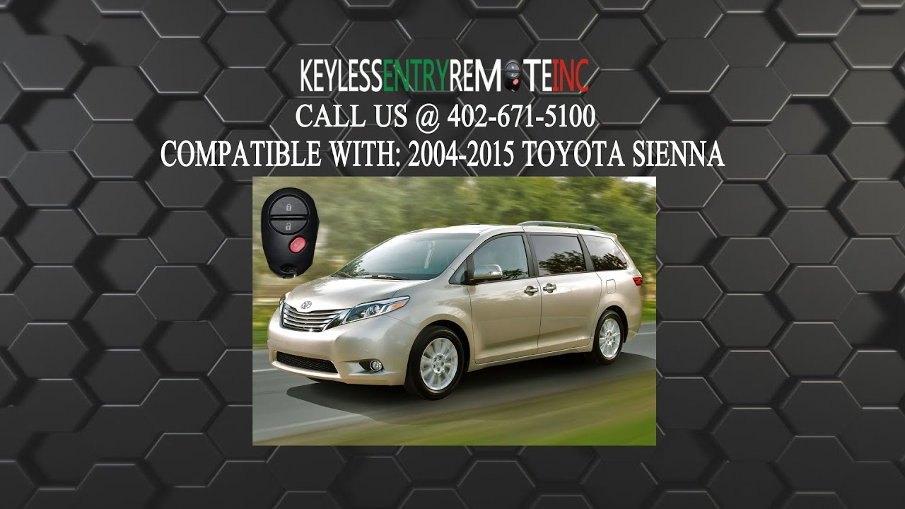 How To Replace A Toyota Sienna Key Fob Battery 2004 2017