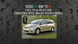 how to replace toyota sienna key fob battery 20042005200620072008 2009 2010 2011 2012 2013 2014 2015