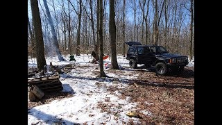 Winter Jeep Camping in Southeastern PA 2018