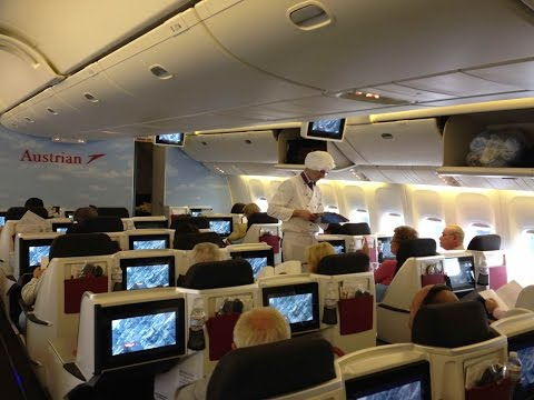Austrian Airlines Flight Review 777 Chicago to Vienna