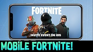 Fortnite On Mobile!! - Huge Fortnite Battle Royale Announcement