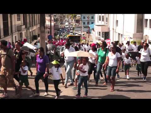 St. Gabriel's Girls R.C. School San Fernando Walk a Thon - Mar. 7, 2015 - Trinidad & Tobago