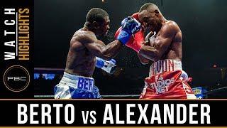 Berto vs Alexander Highlights: PBC on FOX - August 4, 2018