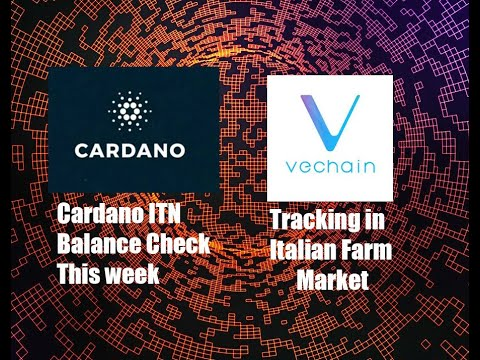 Cardano ITN Balance Check this week, Vechain enters Italian farm market