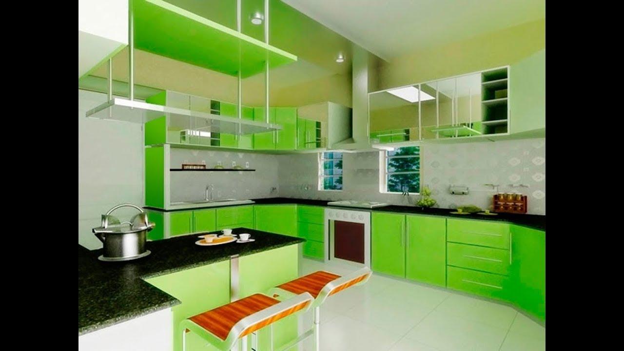 Desain Kitchen Minibar Warna Hijau Cantik Youtube