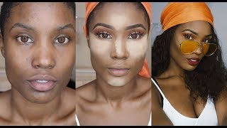 GRWM - Rihanna 'wild thoughts' inspired makeup and hair ft GemBeauty hair