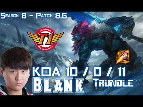 SKT T1 Blank TRUNDLE vs SEJUANI Jungle - Patch 8.6 KR Ranked