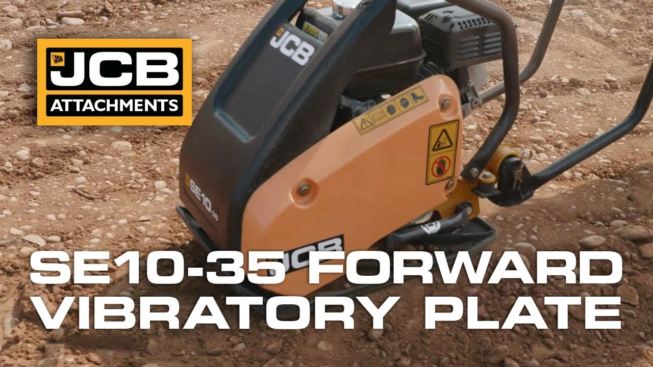 JCB Vibrating Compaction Plate - Working Compaction Demonstration