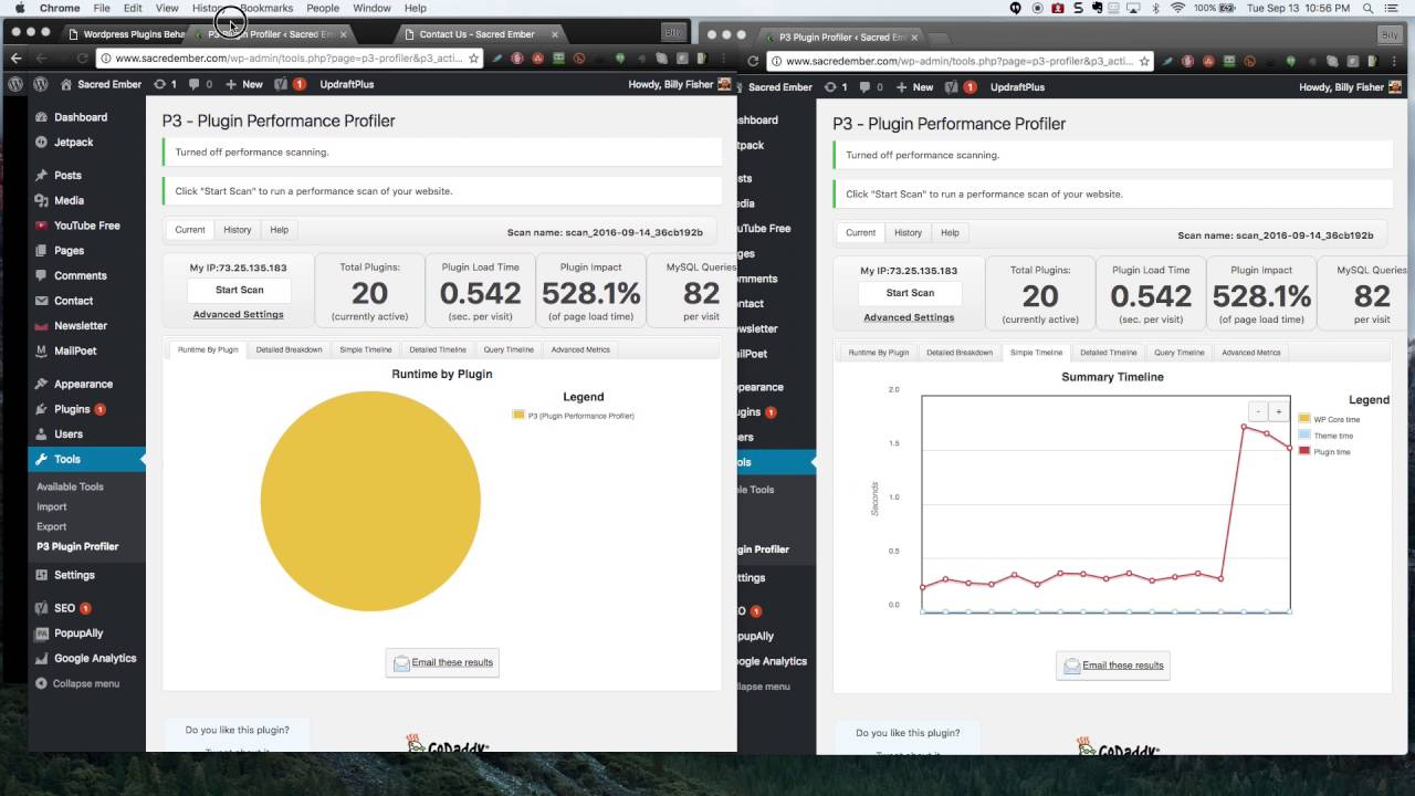 How to speed up a slow wordpress site (p3 plugin performance profiler)
