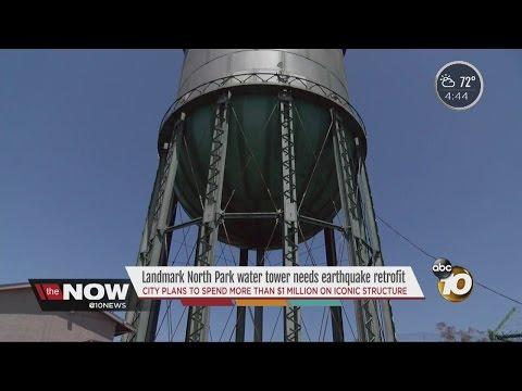Landmark North Park water tower needs earthquake retrofit