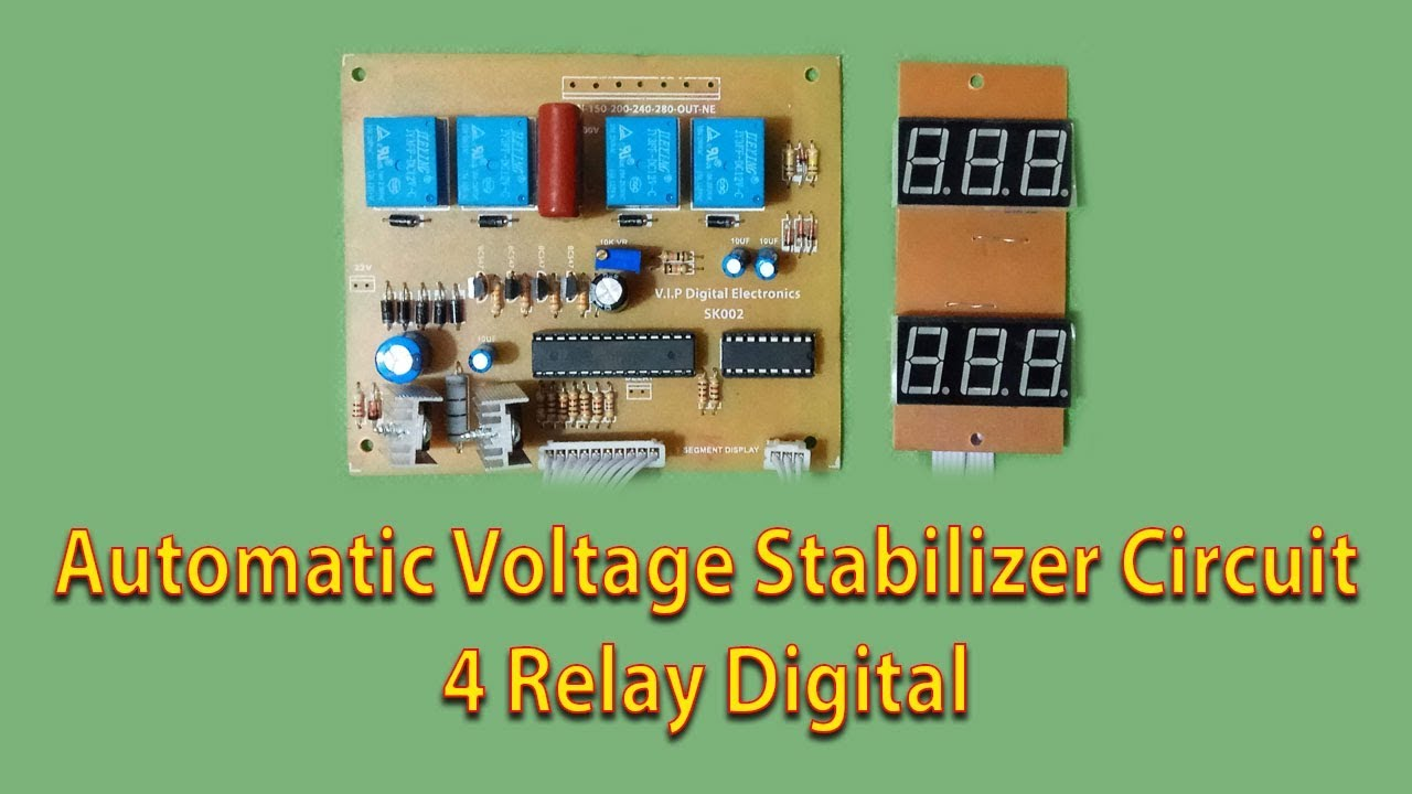 Automatic Voltage Stabilizer Circuit (4 Relay Digital ...