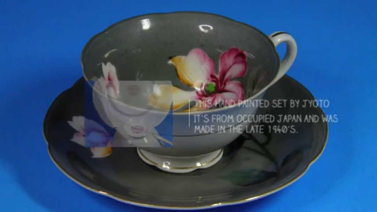 Lot of 4 Vintage Tea Cups and Saucer Sets Fine Bone China Japan